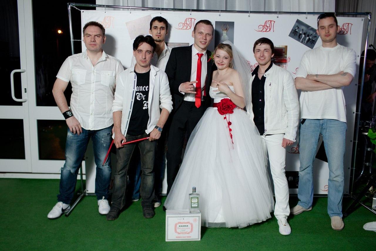Свадьба Александра и Яны Протасеня. Группа Индиго и молодожёны
